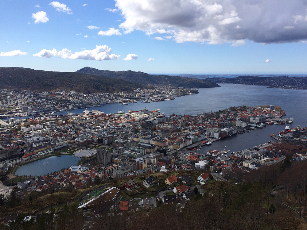 school skiing norway Bergen view from Floibanen